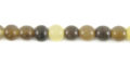 Caranail round 3-4mm natural beads