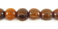 Golden horn melon design 10mm wholesale beads