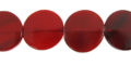 Red horn side drill disc 20mm wholesale beads