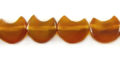 Golden Horn Half Moon Beads 12mm wholesale beads