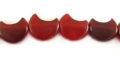 Red horn half moon 12mm wholesale beads