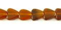 Golden horn heart beads 10mm