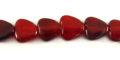 Red horn heart beads 10mm