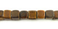 Burnt horn dice 7mm wholesale beads