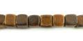 Burnt horn dice beads 7mm