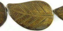 Burnt horn leaf 26x42mm