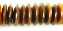 Golden horn saucer 20mm wholesale beads