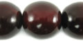 Red horn round bead 25mm