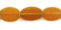 Golden horn flat oval wholesale beads
