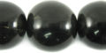 Black horn round bead 25mm