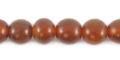 Golden horn round 8mm wholesale beads