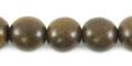 Burnt horn round bead 10mm