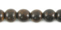 Burnt horn round bead 8mm