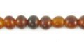 Golden horn round bead 6mm