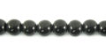 Black horn round 6mm wholesale beads