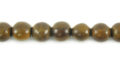 Burnt horn round 6mm wholesale beads