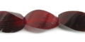 Red horn twist wholesale beads