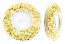 White coconut shell burnt donut 45mm