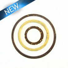 coco ring set- brown/white wholesale