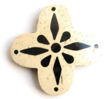 White Coco Cross Pendants wholesale pendants