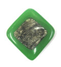coco green diamond 62x66mm capiz inlay wholesale beads