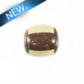 inlaid brown/white coco bead 18mm wholesale