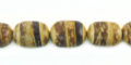 Tiger coconut shell oval shape 8mm