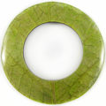 Coconut shell back donut w/ Cab-Caban leaf 70mm