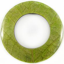 Coconut shell back donut w/ Cab-Caban leaf 70mm