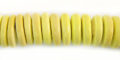 Coco wheels 10mm yellow wholesale beads