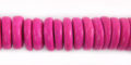 Coconut shell beads wheels 10mm dyed pink