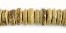 Coconut shell beads wheels 10mm tiger