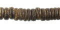 Coconut shell bead wheels 10mm natural brown