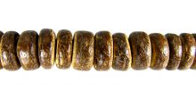 Brown coconut shell bead 8x3mm pukalet