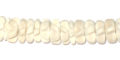 Coco flower 8mm bleached white wholesale beads