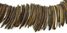 Natural brown coconut shell stick 10x50mm