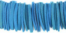 Coconut shell tusks dyed turquoise beads