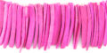 Coconut shell tusks beads dyed pink