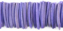 Coconut shell tusks beads dyed purple