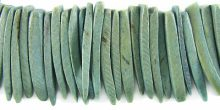 Coconut shell tusks dyed khaki beads