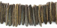 Coconut shell shell tusks-natural brown