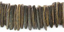 Coconut shell shell tusks-natural brown
