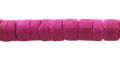 coconut shell heishi 6-7mm dyed pink