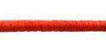 Coco heishi 4-5mm orange wholesale beads