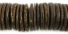 Coconut shell beads natural wheels 20mm