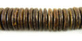 Brown coconut shell beads wheel 15mm Natural