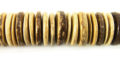 Tiger coconut shell 15mm discs beads