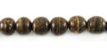 Natural brown coco round 8mm wholesale beads