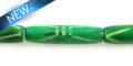 Dyed bone tube green 6x24mm
