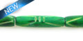 Dyed bone tube green wholesale beads